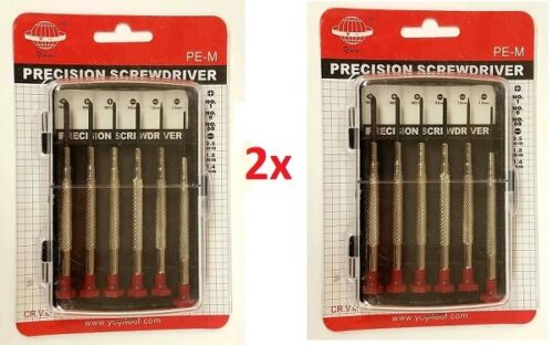 LOT of Heavy Duty Precision Screwdriver Set Micro Jeweler Watches Slotted Repair