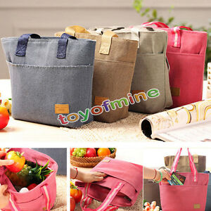 Portable Waterproof Thermal Insulated Cooler Lunch Picnic Travel Carry Tote Bag