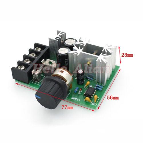 20A  PWM DC Motor Speed Controller DC 10-60V 100/% Speed Range Regulator Switch