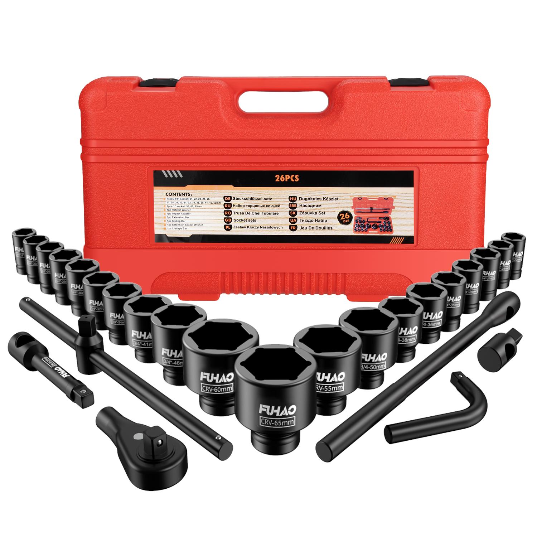 Steelman Pro 3//4 in Drive 33mm 6 Point Deep Impact Socket 79344