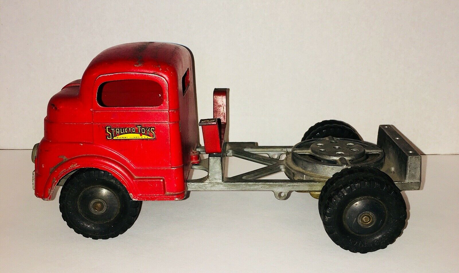 Structo Toys Truck Steel rot C-1502 Vintage 1950's