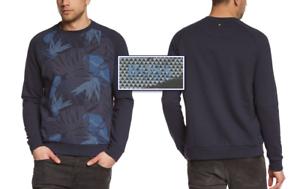 "BOSS GREEN by HUGO BOSS /""Salbo/"" Abstract Floral Printed Crew-neck Sweatshirt NWT"