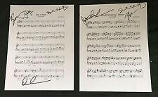 Damien Chazelle signed La La Land poster music sheet photo proof Lala Horowwitz