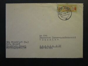Germany-DDR-1958-Official-Cover-Frankfurt-CDS-Z4734