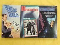 """3 Alfred Hitchcock VHS movies: North By Northwest, Spellbound, """"Vertigo"""""""