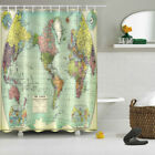 60x72/'/' Black Unicorn Shower Curtain Bathroom Fabric Waterproof 12 Hooks 2723