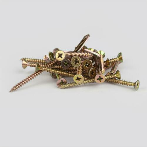 Kopf PZ gehärtet 5,0 x 60 mm XXL Spanplattenschrauben 300 Stück gelb verzin