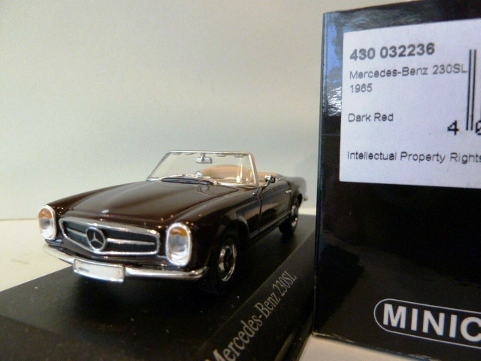 WOW EXTREMELY RARE Mercedes W113 230SL Pagode  Cabriolet Reg. rouge 1 43 Minichamps  plus abordable