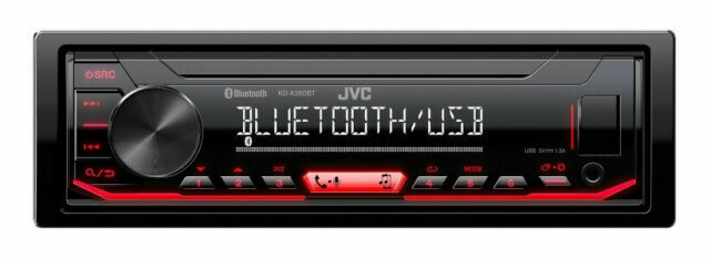 New JVC KD-X260BT 1-DIN Car Stereo In-Dash Digital Media Receiver w// Bluetooth