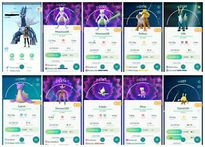 Pokemon-Account-GO-Level-40-31x-Mewtwo-158x-Legendary-166x-Shiny-117x100IV