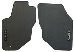 Mercury Sable OEM Factory Floor Mat Mats Set Front Floormats Midnight Black Gray