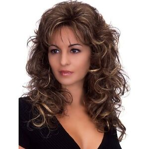 Outstanding-Dark-Brown-Wavy-Towheaded-Synthetic-Women-Wig-Hair