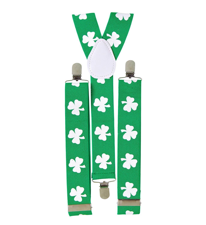 Widmann S.r.l. Hosenträger grün Klee St. Patrick's Day Ireland Holiday 127995V13