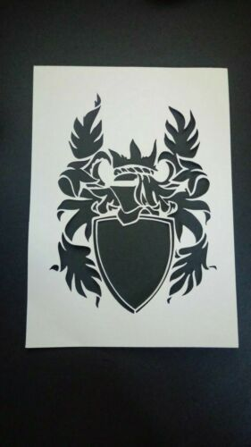 picture mount or stencil coat of arms multi listing
