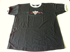 ROLLERBLADE VINTAGE T SHIRT, BLACK WITH WHITE COLLAR, NEW, XL