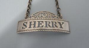 Victorian-SOLID-Silver-PIERCED-039-SHERRY-039-WINE-Label-Birmingham-1848-George-Unite