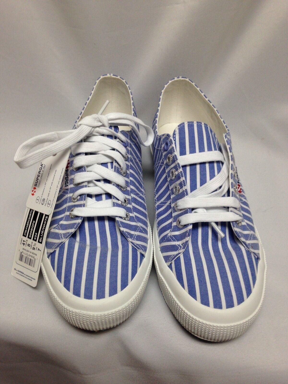 Superga 2750 FABRIC SHIRT TU S00BQPO bluee   White 8, 9 1 2 , 10 NIB