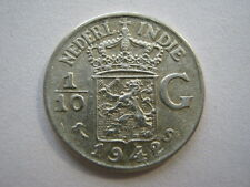 Netherlands East Indies 1/10 Gulden 1942, GVF.