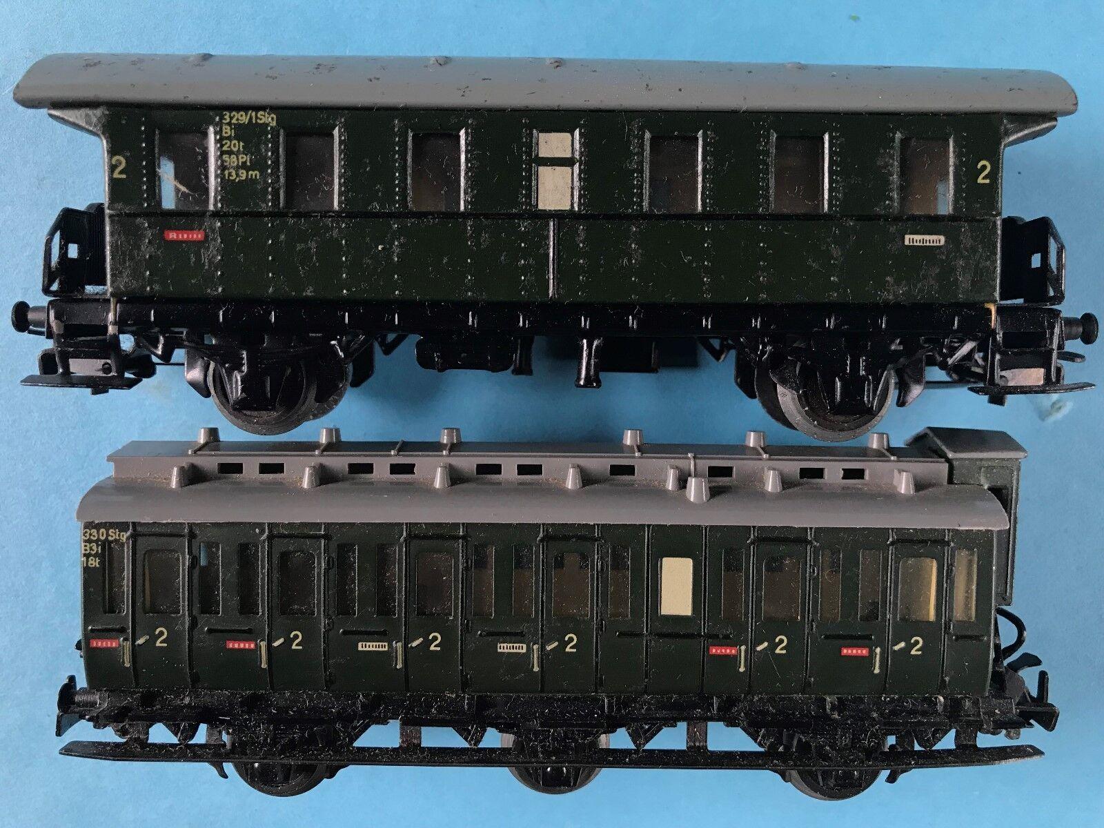 Konvolut 2x Märklin Eisenbahn Personenwagen Personenwagen Personenwagen 4002 u. 4004 OK Spur 00 H0 19541962  | Vorzügliche Verarbeitung  8340e6