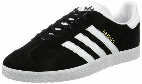 Adidas Original Gazelle Black White Mens Suede Trainers