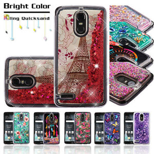 buy online ee13a d47c1 Details about LG Stylo 3 /Plus Bling Hybrid Liquid Glitter Rubber  Protective Hard Case Cover