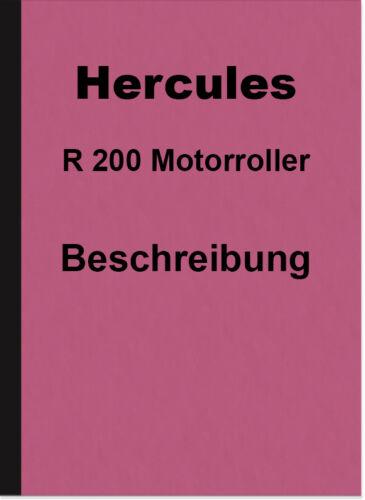 Manual PROSPETTO Hercules R 200 r200 ROLLER SCOOTER descrizione opuscolo