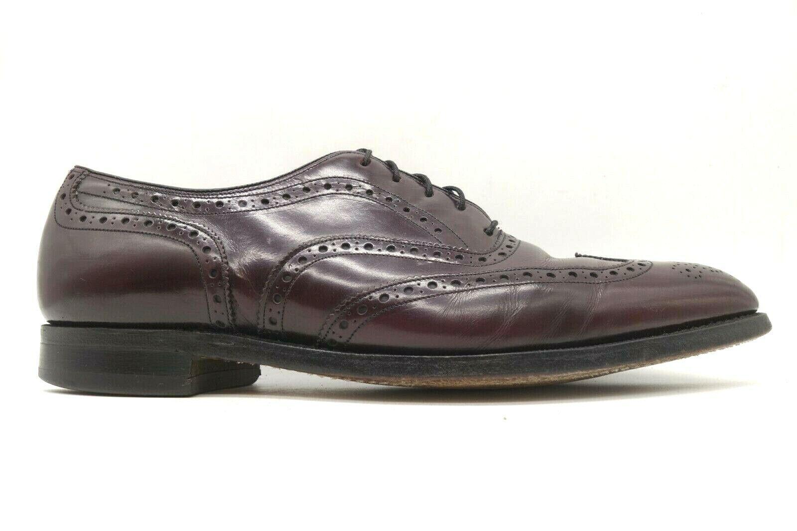 Johnston Murphy Aristocraft USA Burgundy Wingtip Oxfords Shoes Men's 10.5 C