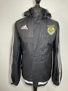 Adidas Continental Football Club FC 2015 Black Soccer Jacket Windbreaker M VGC