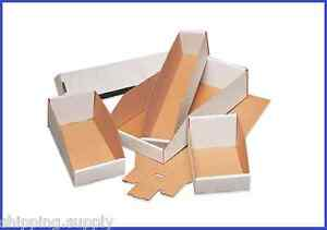 50-Pack-White-Corrugated-Open-Top-Storage-Bin-Boxes-22-Sizes-Available