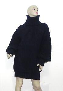 Navy Turtleneck Ny Alpaca Sweater Blend Kvinder Peru Blue Size One qqBt6w