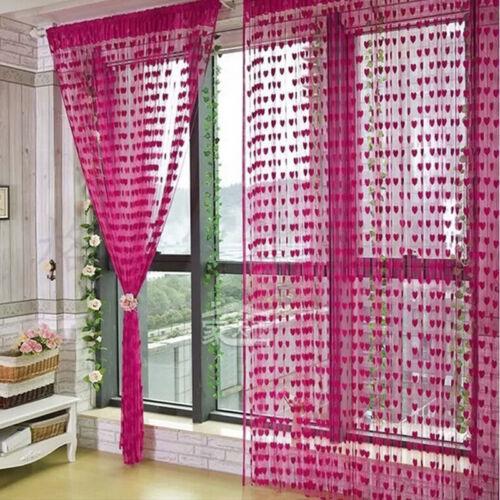 Süß Herz Linie Quaste Schnur Türvorhang Fenster Zimmer Organizer Vorhang Volant