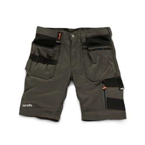SCRUFFS Trade Shorts Slate Work Wear Cargo Combat Hard Wearing Holster