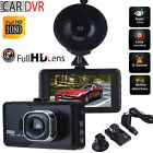 "HD 3.0"" LCD Car DVR Vehicle Dash Cam Camera Video Recorder Night Vision G-sensor"