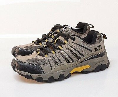 NEW FILA Men's Trail Shoe Sneakers Leather Shoes 13 MED Brown/Black 1SH40282-205
