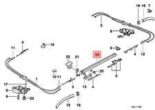 Genuine BMW E34 Wagon Sunroof Slide Rail Left OEM 54128120597