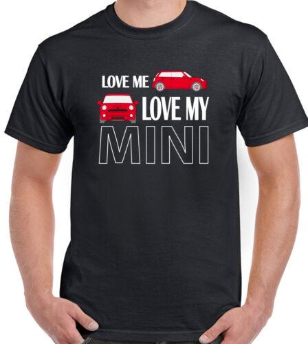 Love me love my mini-T-shirt Homme Clubman Roadster Cooper John travaille design 2