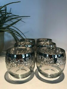Vintage-6-Dorothy-Thorpe-Silver-Fade-Wine-Glasses-Mad-Men-Glasses-A-98