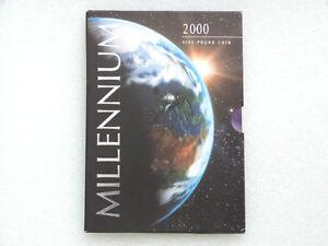 1999-2000-Royal-Mint-Millennium-BU-5-Five-Pound-Crown-Coin-Pack