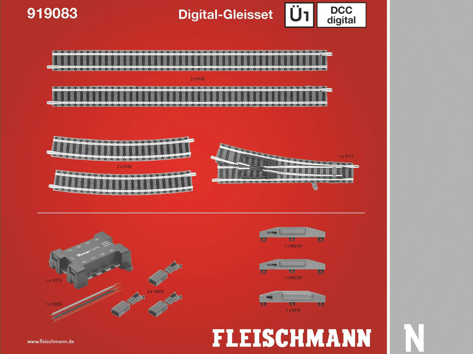 Fleischuomon Fleischuomon Fleischuomon 919083-DCC digital-gleisset ü1-Spur N-NUOVO 028286