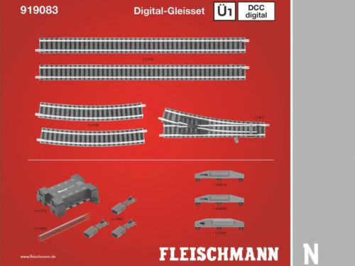 Spur N DCC Digital-Gleisset Ü1 Fleischmann 919083 NEU