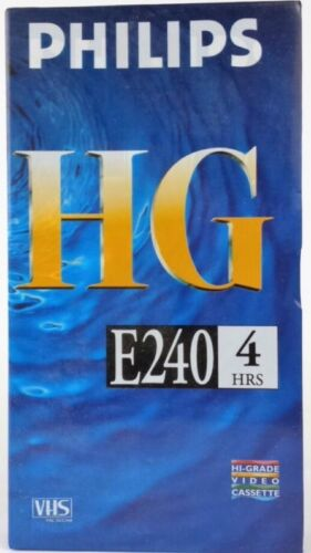 Philips HG E240 VHS Blank 4 HRS NEW SEALED Free FAST POST