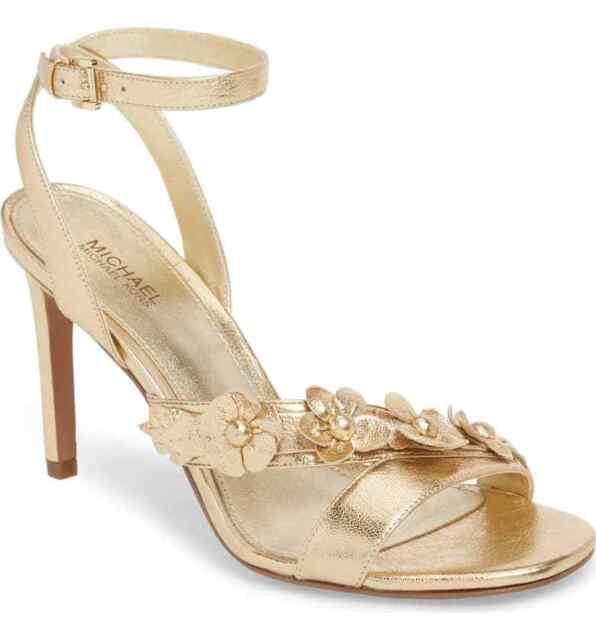2565a62bd9b9 Michael Kors Women s Tricia Dress Sandals Pale Gold Size 10m for ...