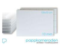 Ab 2 St Weiss Leichtschaumplatte 3mm, Format 70x100cm, Maxx Board, Kapa, F-board