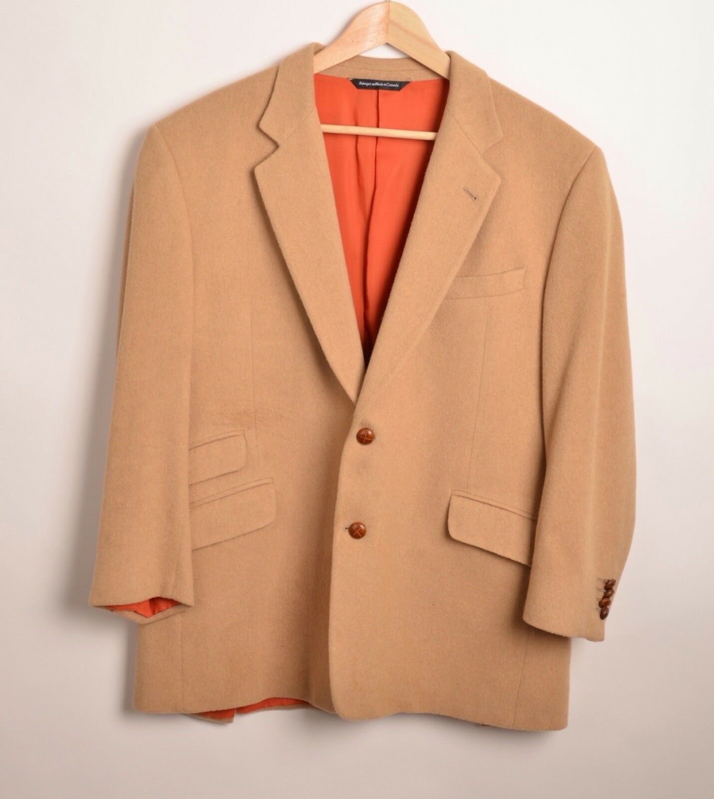 Giorgeo Carelli Tan Cashmere  Herren Medium Blazer Two Button