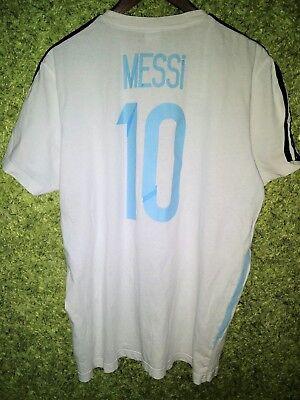ARGENTINA NATIONAL TEAM #10 MESSI SHIRT JERSEY HOME ADIDAS TRAINING SIZE XL   eBay