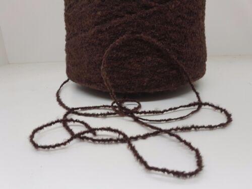 Wolle Garn Stricken weben/&häkeln Bouclè effektgarn  sehr dick braun 2kg  pay05