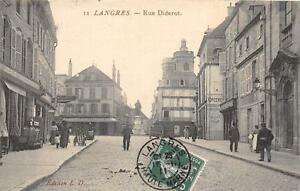 CPA 52 LANGRES RUE DIDEROT (cliché pas courant
