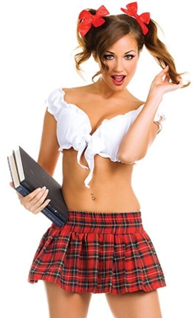 243ec47de5b NEW WOMENS LADIES NAUGHTY SCHOOL GIRL HEN DOO FANCY DRESS PARTY OUTFIT  LINGERIE