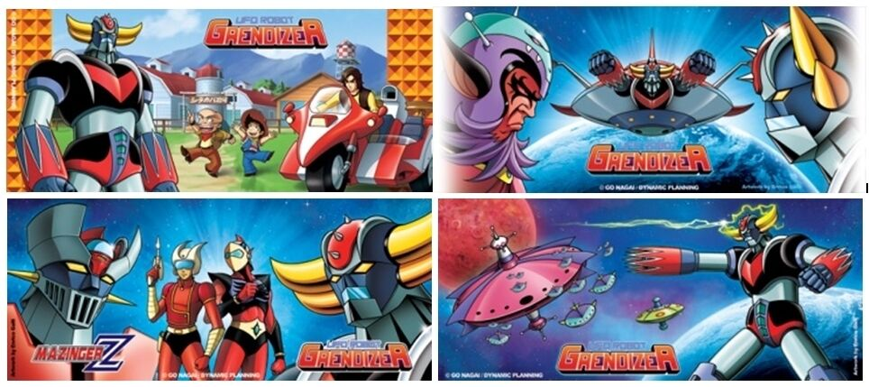 High Dream HL Pro Go Nagai Characters Mug Collection Grendizer Mazinger SET (4)