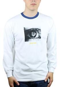 Brixton-Mens-Orbit-Standard-Fit-Long-Sleeve-T-Shirt-White-M-New